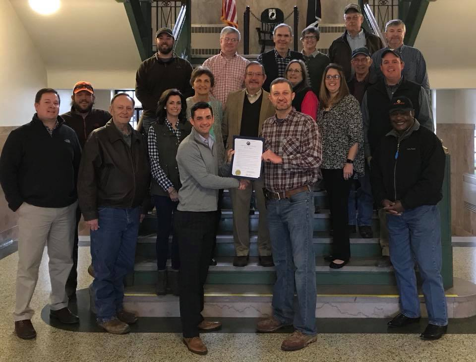 2018 National Ag Day Proclamation with County Mayor Jake Bynum